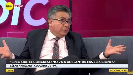 Nakazaki no cree que Congreso apruebe adelanto de elecciones: