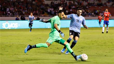 Uruguay venció 2-1 a Costa Rica en amistoso internacional en el Estadio Nacional de San José