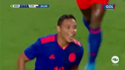 Luis Muriel marcó el segundo gol de Colombia en el amistoso internacional ante Brasil