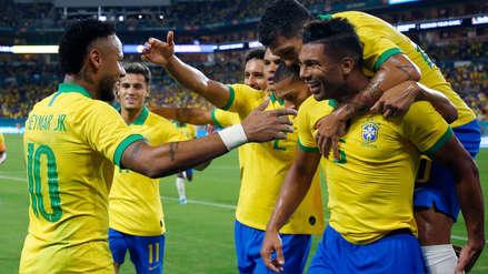 ¡Con el centro de Neymar! Casemiro anotó el primer gol del partido entre Brasil y Colombia