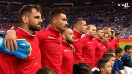 ¡Qué vergüenza! Himno de Andorra sonó cuando debían poner el de Albania y futbolistas no quisieron jugar ante Francia