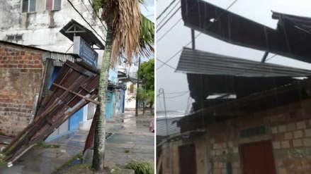 Iquitos soportó vientos de hasta 50 kilómetros por hora en tormenta