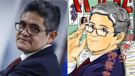 Aficionado ilustra al fiscal José Domingo Pérez como un personaje de manga y anime