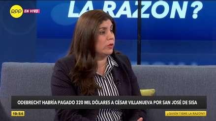Graciela Villasís: Villanueva no puede eludir su responsabilidad en pagos de Obebrecht por carretera