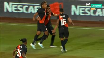 ¡El primero con la blanquirroja! Luis Abram anotó el gol de Perú en el amistoso internacional ante Brasil