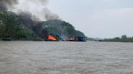 'Pequedragas': operativo contra minería ilegal en el río Napo