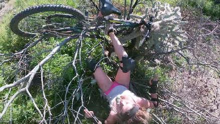 Ciclista perdió el control y cayó sobre cactus durante entrenamiento