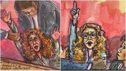 Fuera de sí y lanzando insultos: Así retrataron la reacción de Eliane Karp en audiencia de Toledo