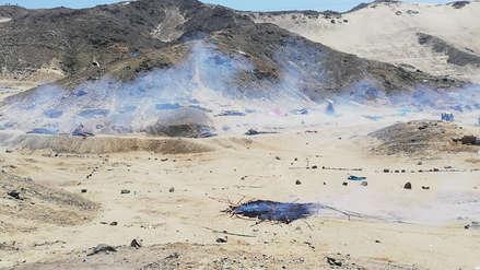 La Libertad | Hallan dinamita y armas de fuego en chozas de invasores desalojados por la Policía