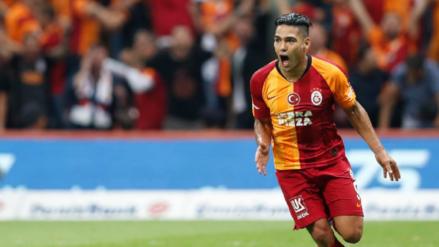 ¡Enorme 'Tigre'! Radamel Falcao debutó con gol en la victoria de Galatasaray por la Súperliga de Turquía