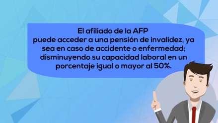 ¿Estás afiliado a una AFP? Conoce qué hacer para acceder a una pensión de invalidez