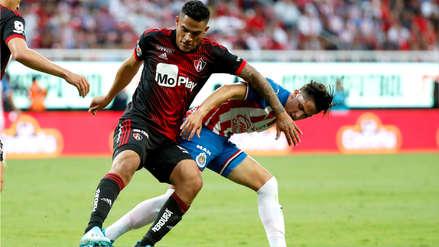 Atlas, con Anderson Santamaría, perdió 1-0 ante Chivas por el Torneo Apertura de la Liga MX