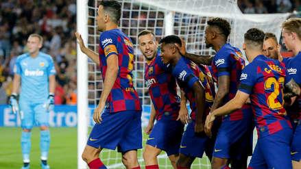 ¡Festín de goles! Barcelona se hizo fuerte en casa y goleó 5-2 al Valencia en el Camp Nou