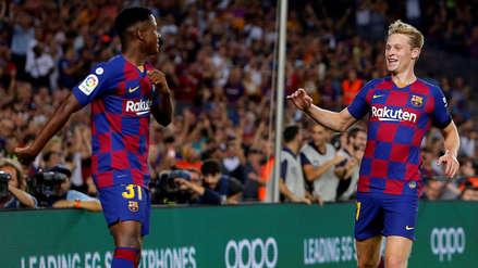 ¡A los 5 minutos! Frenkie de Jong anotó el segundo gol de Barcelona tras genial asistencia de Ansu Fati