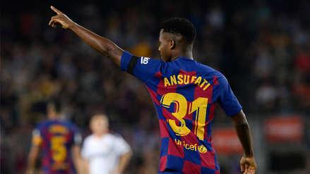 ¡Histórico! Ansu Fati anotó el primer gol de Barcelona a los 2 minutos y asistió en el segundo tanto