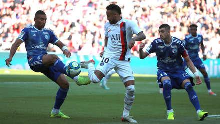 ¡Con un golazo de Neymar! PSG venció 1-0 a Racing de Estrasburgo por la fecha 5 de la Ligue 1