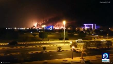 Ataque con dron provoca incendios en dos instalaciones de empresa petrolera saudita