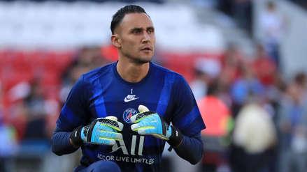 ¡Salvó el arco! Keylor Navas atajó un gran remate en el partido entre PSG y Racing de Estrasburgo