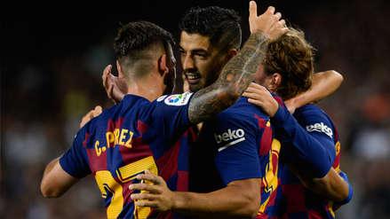 ¡Entró y anotó! El golazo de Luis Suárez ante Valencia un minuto después de haber ingresado