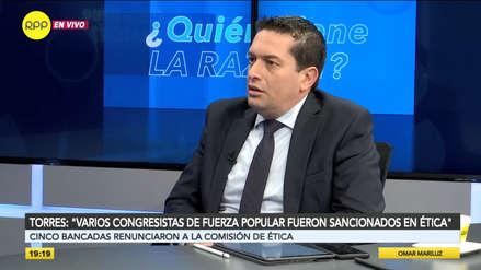 Torres sobre retiro de bancadas en Ética: