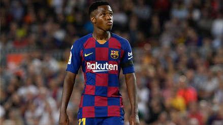 Y no es lesión: el motivo por el cual el Barcelona perdería a Ansu Fati por casi un mes