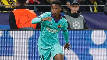 Sigue rompiendo récords: Ansu Fati se convirtió en el futbolista más joven del Barcelona en jugar la Champions League
