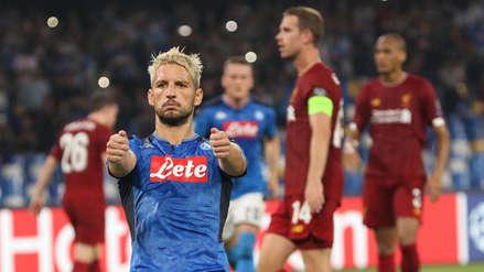 ¡Cayó el campeón! Liverpool perdió 2-0 ante Nápoli en su debut en la Champions League