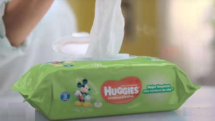 Hallan bacterias en pañitos y toallitas húmedas Huggies e Indecopi pide evitar su uso