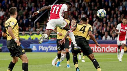 ¡Abrió el marcador! Quincy Promes anotó el primer gol de Ajax en el partido ante Lille por la Champions League