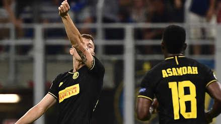 ¡Explotó el San Siro! Nicolo Barella le dio el empate al Inter en los descuentos con gran volea