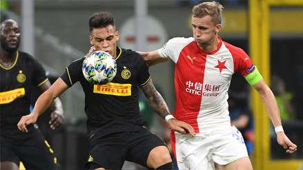 Inter de Milán igualó 1-1 con Slavia Praga por el grupo F de la Champions League