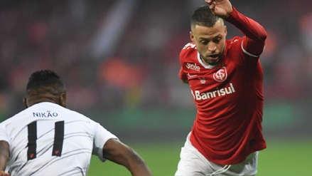 ¡Paolo Guerrero lo intentó! Nico López puso el empate para Internacional en la final de la Copa Brasil