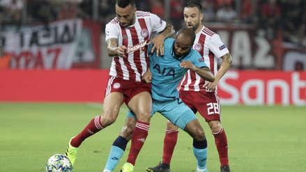Dejó escapar la victoria: Tottenham empató 2-2 con Olympiacos por el grupo B de la Champions League