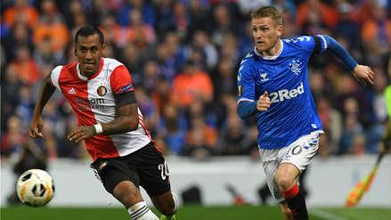 Con Renato Tapia Feyenoord perdió 1-0 ante Rangers por el Grupo I de la Europa League
