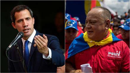 Guaidó acusa a Cabello de sabotear la mesa de diálogo impulsada por Maduro
