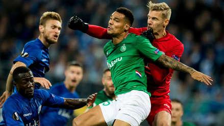 ¡Uno para cada uno! Los dos autogoles en el partido entre Saint Etienne y Gent por la Europa League