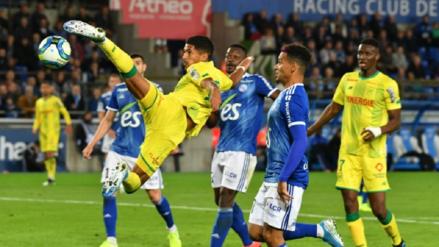 Sin Cristian Benavente Nantes perdió 2-1 ante Racing de Estrasburgo por la sexta fecha de la Ligue 1