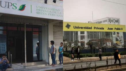 Sunedu negó licenciamiento a dos universidades privadas de Lima y Loreto