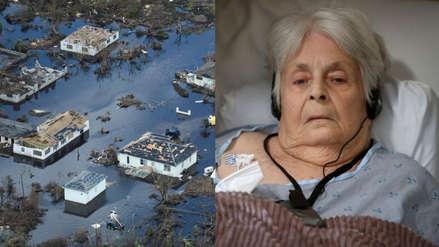 ¡Increíble! Una anciana sobrevive tres días flotando en refrigerador y sofá tras huracán Dorian