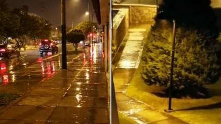 Intensa lluvia cae sobre Lima y 17 regiones del país la noche de este viernes