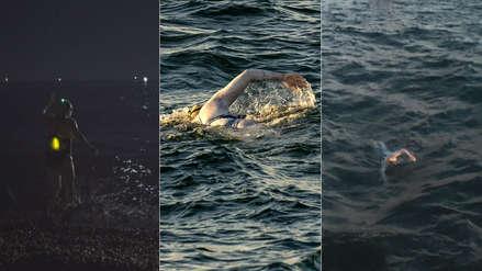 ¡Impresionante! Nadadora cruzó cuatro veces sin parar el mar entre Francia y Reino Unido [VIDEO]