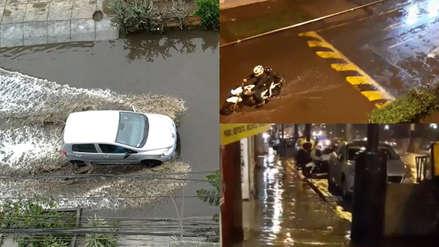 Vías inundadas y con aniegos: así quedaron las calles de Lima tras la intensa lluvia [VIDEO]