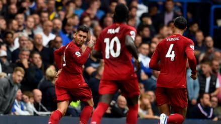 ¡Tremendo cabezazo! Roberto Firmino marcó el segundo gol a favor de Liverpool ante Chelsea por la Premier League