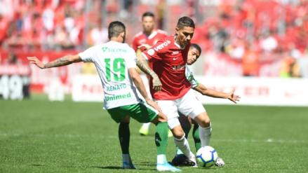 Con Paolo Guerrero, Internacional venció 1-0 a Chapecoense por la fecha 20 del Brasileirao