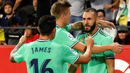 Real Madrid venció 1-0 Sevilla con gol de Benzema y trepó al segundo puesto de la Liga Santander