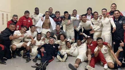 ¡Alegría total! Así celebró Universitario de Deportes su  victoria ante Sport Huancayo en el vestuario