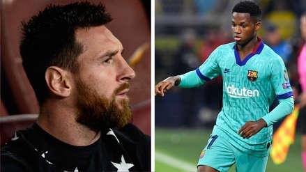 Lionel Messi sobre Ansu Fati: