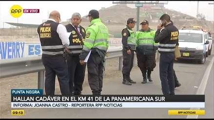 Hallan cadáver en el kilómetro 41 de la Panamericana Sur [VIDEO]