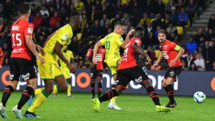Con Cristian Benavente Nantes venció 1-0 a Rennes por la jornada 7 de la Ligue 1