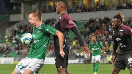 Con Miguel Trauco de titular, Saint Etienne perdió 1-0 ante Metz por la séptima fecha de la Ligue 1
